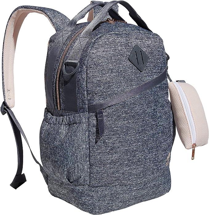 Amazon.com: adidas Women's Squad Backpack, Jersey Onix Grey/Pink ...