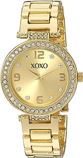 ساعة اكس او اكس او كوارتز معدنية للنساء لون ذهبي (XO5930)