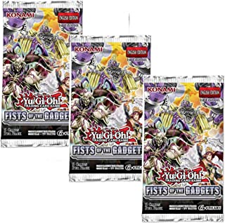 Yu-Gi-Oh! Trading Cards Cards: Fists of The Gadgets 3Pk Blister   Genuine Cards, Multicolor