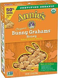 Annie's Organic Honey Bunny Grahams Baked Graham Snacks, 11.25 oz
