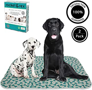 rocket & rex Washable, Puppy Pee Pads. Waterproof, Pet Training Reusable Pads. Leak-Proof and Absorbent. Whelping, Incontinence, Travel.