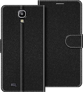 COODIO Funda Samsung Galaxy S4 con Tapa, Funda Movil Samsung S4, Funda Libro Galaxy S4 Carcasa Magnético Funda para Samsung Galaxy S4, Negro