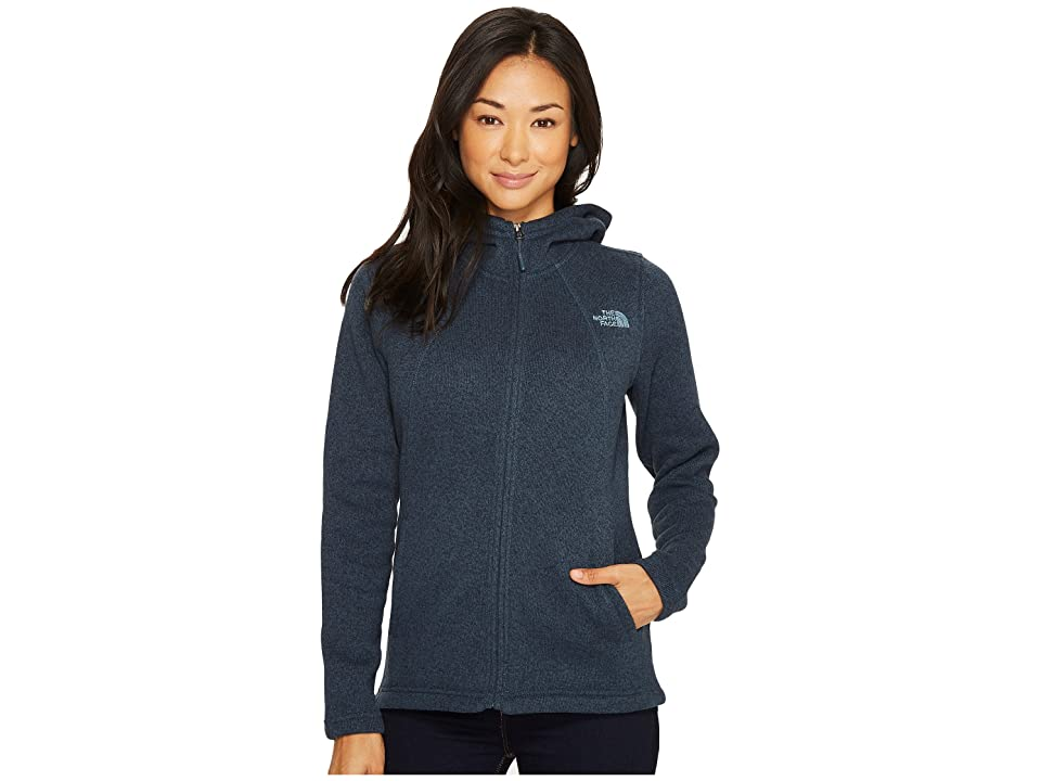 The North Face Crescent Full Zip Hoodie (Ink Blue Heather) Women