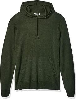 Amazon Brand - Goodthreads Men's Merino Wool/Acrylic Pullover Hoodie Sweater, Olive Medium