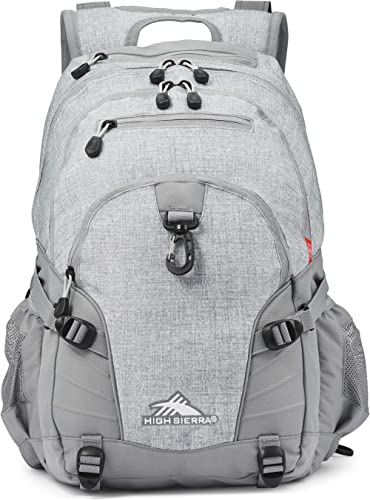High Sierra Loop Backpack, Silver Heather, 19 x 13.5 x 8.5-Inch