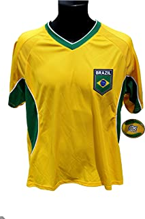 Brazil Soccer Officially Licensed Adult Soccer Training Performance Poly Jersey 001 Rhinox