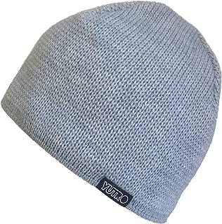YUTRO Men's Winter Classic NO Wind Beanie Wool Hat with Fleece Lining