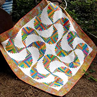 Rainbow Swirls Curvy Log Cabin Quilt Pattern, by Cut Loose Press and Natural Comforts Quilting