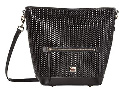 Dooney & Bourke Camden Woven Small Hobo Crossbody (Black/Black Trim) Handbags