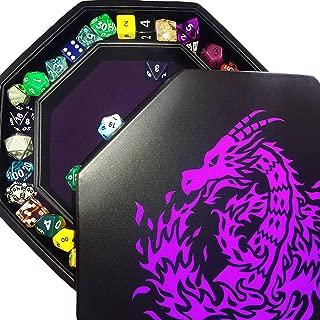 Fantasydice- Purple - Fire Dragon - Dice Tray - 8