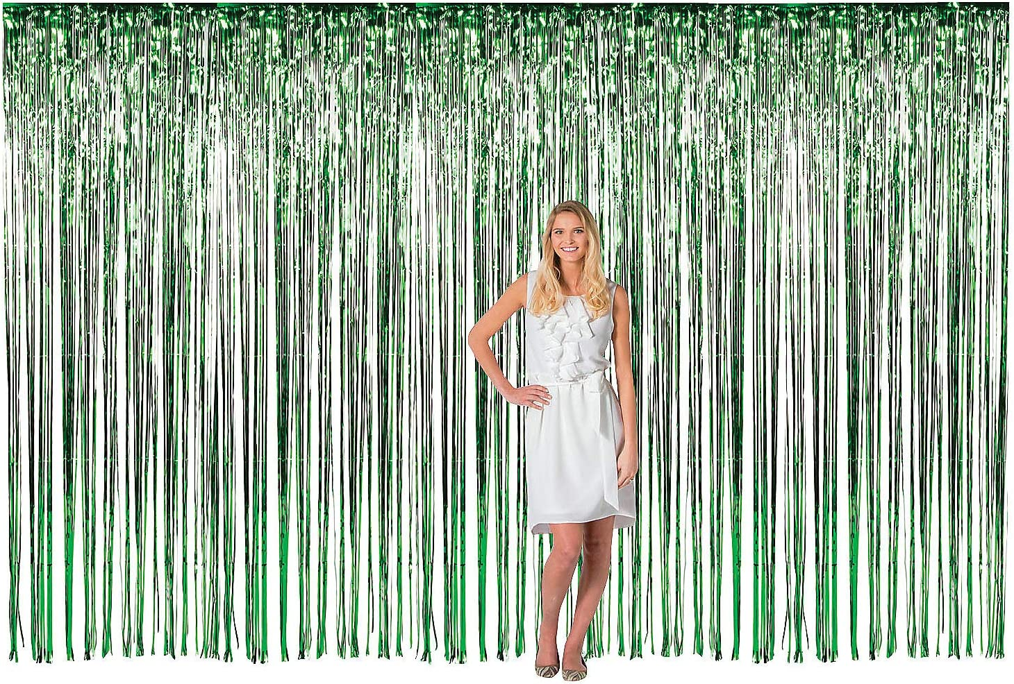 LG GREEN FRINGE DOOR CURTAIN Decor Cheap SALE Start Party 1 - Piece Max 50% OFF