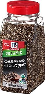 McCormick Coarse Ground Black Pepper (Organic, Non-GMO, Kosher), 12 oz