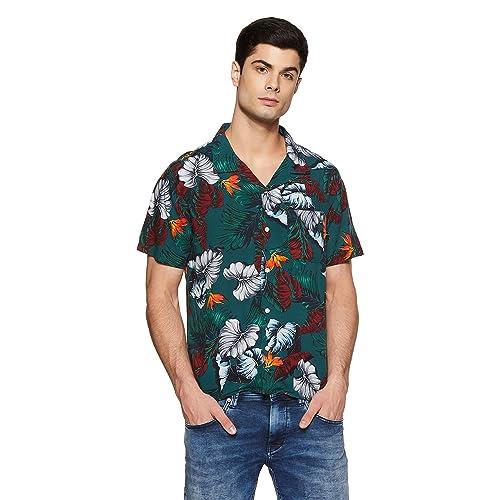 GAP Men's Printed Regular Fit Casual Shirt