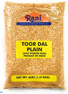 Rani Toor Dal (Split Pigeon Peas) 4lb (64oz) ~ All Natural | Gluten Free Ingredients | NON-GMO | Vegan | Indian Origin