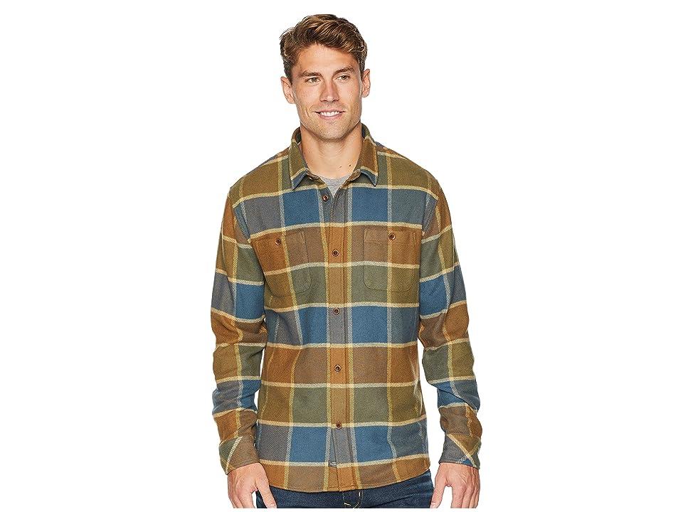 Quiksilver Waterman Cold Breeze Long Sleeve Flannel Shirt (Kangaroo) Men