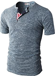 Mens Casual Henley T-Shirts Short Sleeve Relaxed Fit of Various Styles