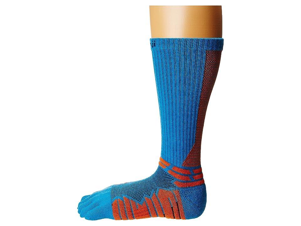 Injinji Run Technical Crew (Blue) Crew Cut Socks Shoes
