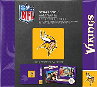 C.R. Gibson Scrapbook Complete Kit, Small, Minnesota Vikings (N878624M)