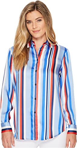 LAUREN Ralph Lauren - Satin Striped Woven Shirt