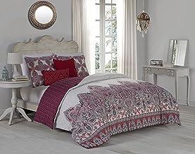 Avondale Manor Imogen 5-piece Duvet Cover Set, King, Red