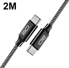 QGhappy USB C a USB C Cable 2M(2 pack), PD 3A 18W Cable Tipo C de Carga Rápida para Samsung Note 8 / S8 , Nintendo Switch , Macbook Pro 2016 2017,ChromeBook Pixel