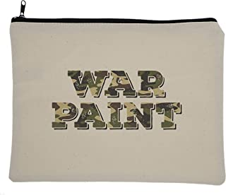 "Buttercup USA Canvas Cosmetic Makeup Bag, 8X10.5"", Sassy Sayings, (Camo War Paint)"