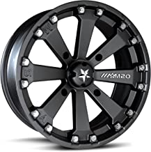 MotoSport Alloys M20 Kore Satin Wheel with Flat Black Finish and Chromium (hexavalent compounds) (14 x 7. inches /4 x 156 mm, 0 mm Offset)