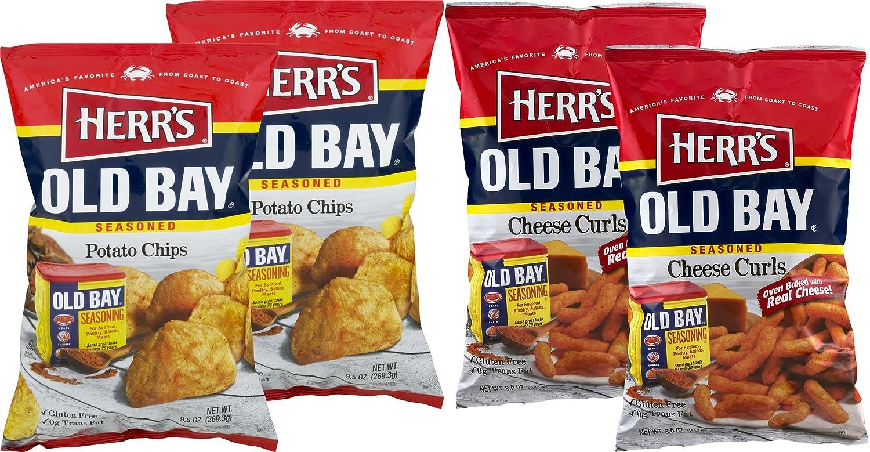Herr's Old Fashionable gift Bay Seasoned Chips Cheese Potato C