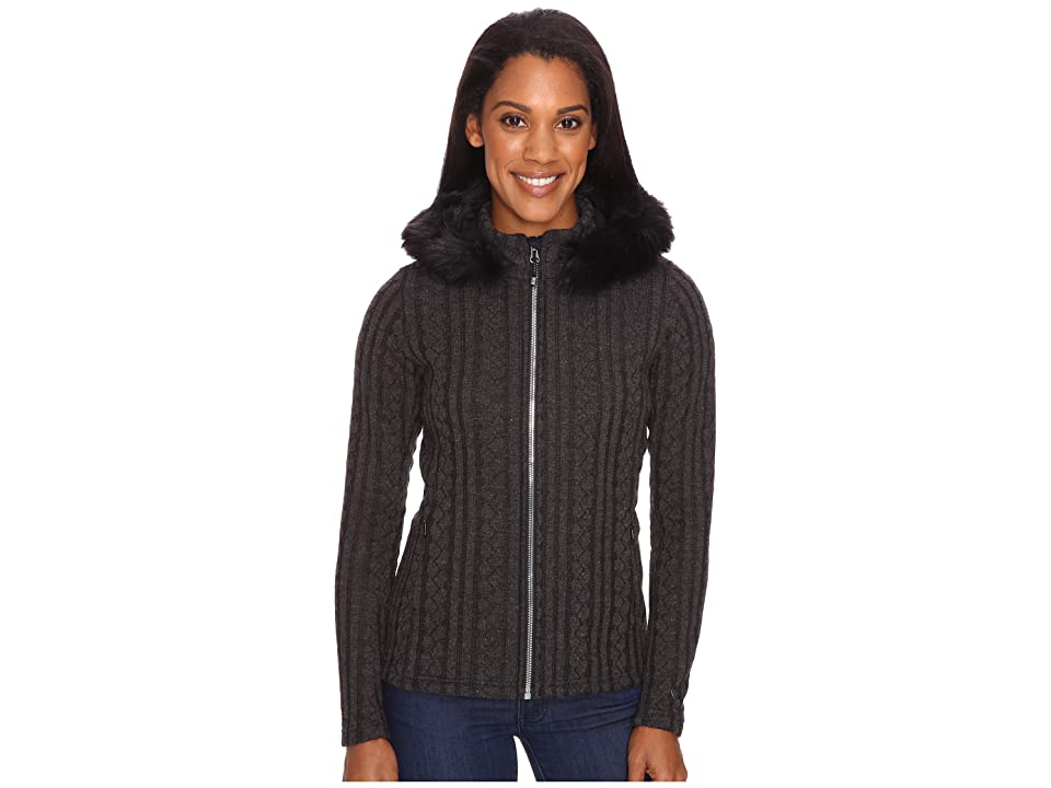 Obermeyer Sadie Cable Knit Jacket (Black) Women