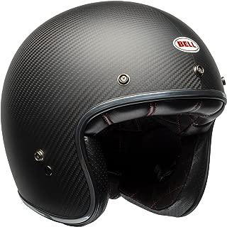 Bell Custom 500 Carbon Open-Face Motorcycle Helmet (Matte Black Carbon, Medium)