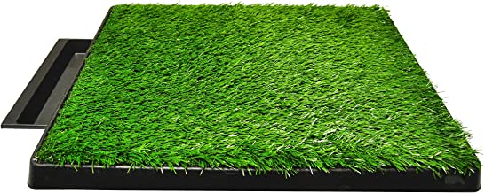 Downtown Pet Supply Dog Pee Potty Pad, Bathroom Tinkle Artificial Grass Turf, Portable Potty Trainer