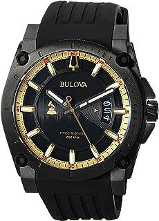 Men's Grammy Watch Stainless Steel Analog-Quartz Silicone Strap, Black, 24 (Model: 98B294)