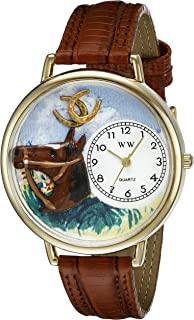 product image for Whimsical Watches Unisex G0110005 Horse Head Brown Leather Watch