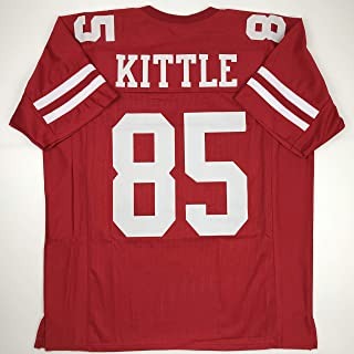 Unsigned George Kittle San Francisco Red Custom Stitched Football Jersey Size Men's XL New No Brands/Logos