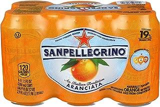 Sanpellegrino Orange Sparkling Fruit Beverage, 11.15 fl oz. Cans (6 Pack)