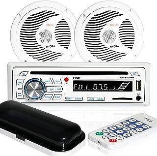 Kit de altavoz estéreo marino receptor – consola digital LCD integrada Bluetooth y micrófono 6.5 pulgadas altavoces imperm...