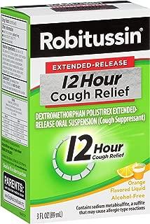 Robitussin Extended-Release 12 Hour Cough Relief (3 fl. oz. Bottle, Orange Flavor), Alcohol-Free Cough Suppressant