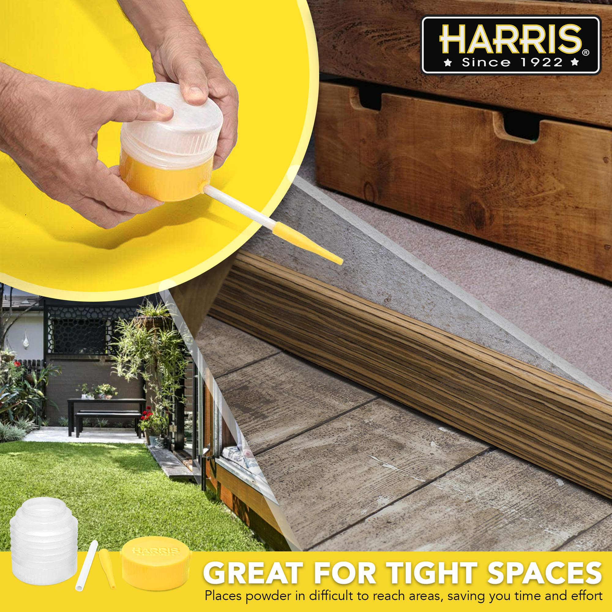 HARRIS Diatomaceous Earth Powder Duster with 6 Inch Extension Nozzle