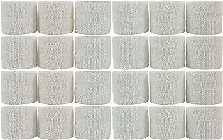 PowerFlex Self Adherent Tape Latex Athletic Tape White 2 24 Rolls per Case