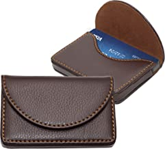 Storite Imported Pocket Sized Stitched Leather Business Credit Debit Card Holder Wallet for Gift – Coffee Brown