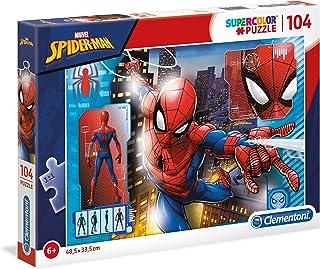 Clementoni 27118 Spiderman 27118-Supercolor Puzzle-Spider Man-104 Pieces, Multi-Coloured, 104pezzi