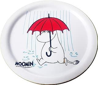 [ ACACIA ] Moomin Color Wood Coasters, 5 style, Diameter 3.94 inch (Red umbrella)