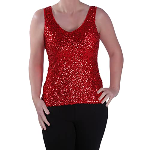 f26fc42d Eyecatch - Womens Sequin Sleeveless Glitzy Glamorous Party Ladies Vest Top