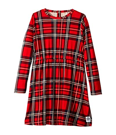 mini rodini Check Dress (Infant/Toddler/Little Kids/Big Kids) (Red) Girl