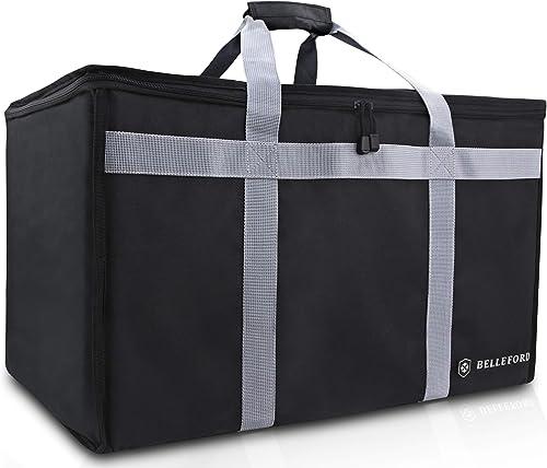 "BELLEFORD Insulated Food Delivery Bag XXL - 23x14x15"" Waterproof Grocery Storage [Warm & Cool] - Buffet Server, Warmi..."