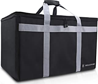 "BELLEFORD Insulated Food Delivery Bag XXL – 23x14x15"" Waterproof Grocery.."