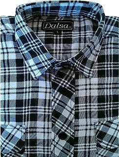 Dalsa–Camiseta de leñador para trabajar, franela a cuadros, manga larga, algodón cepillado