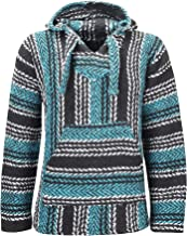 Texture Pullover Hoody /ÖLAND OUTDOORS Baja Hoodie Hippie Mexican Poncho Men Women Boys Girls Made in Mexico