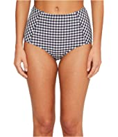 Tory Burch Swimwear - Gingham High-Waisted Bottom