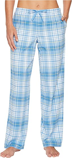 Powder Blue Plaid Sleep Pant